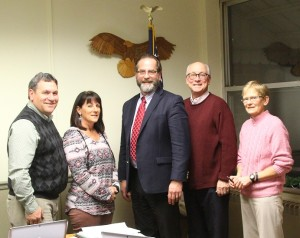 The Geneseo Town Council. (L-R) Matt Griffo, Roberta Irwin, William Wadsworth, Jerry Wrubel, Patty Lavigne.