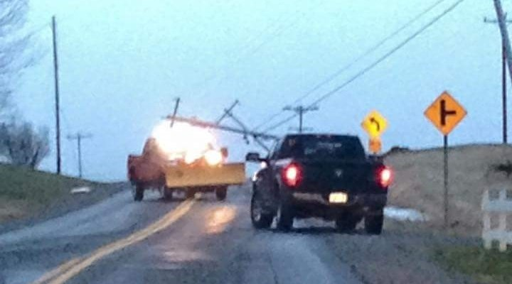 Wind Topples Power Lines and Branches in Livingston County