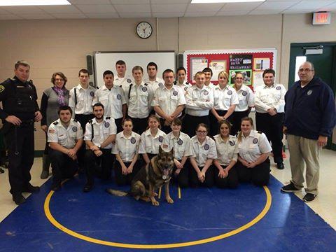 Livingston County K9 Team Teaches BOCES Law Enforcement Students