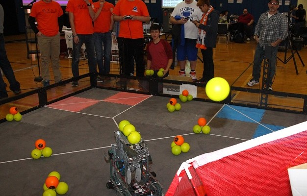 Livonia Teens Test Bots and Brains at Robot Games