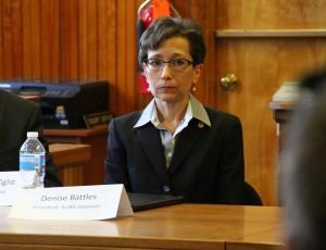 SUNY Geneseo President Denise Battles. (Photo/Conrad Baker)