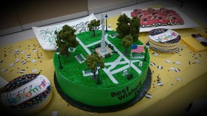 The cake for the party, courtesy of the Cake Place at 65 East Main Street in Avon. (Photo/Conrad Baker)