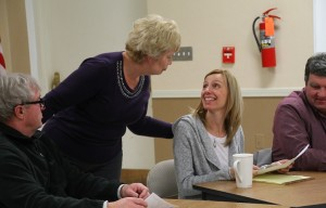 Baker wishes newly elected Town Council member Jeannie Michalski well. (Photo/Conrad Baker)