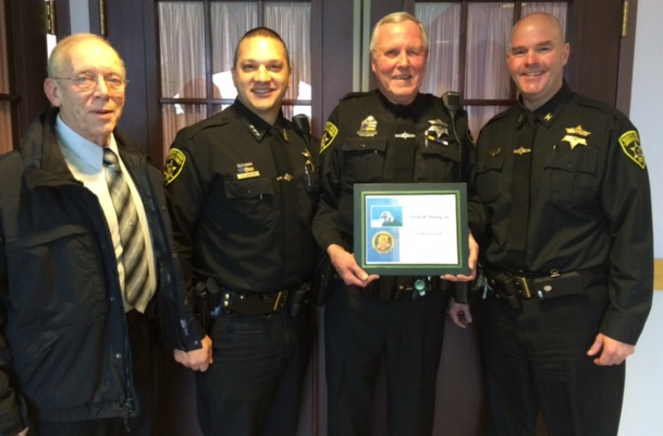 Livingston County Awards Deputy and Marine Clark Young for Continued Service