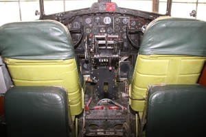 "The cockpit of the 'Memphis Belle."" (Photo/Conrad Baker)"