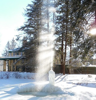 Letchworth's 'Ice Volcano' Just a Trickle This Year