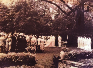 The marriage of Alice Wadsworth and Trowbridge Strong at the estate. (Photo courtesy of Corrin Strong)