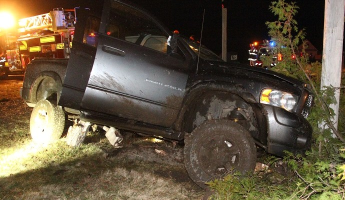 Driver Injured After Striking Tree and Telephone Pole in Avon