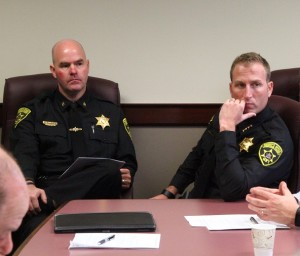 (L-R) Chief Deputy Matthew Burgess and Sheriff Thomas Dougherty. (Photo/Conrad Baker)