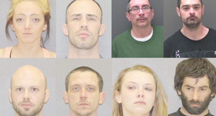 Deputies Grab 8 People for Drug Charges over the Weekend