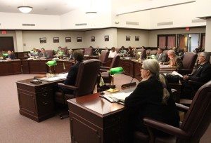 An earlier meeting od the Livingston County Board of Supervisors. (Photo/Conrad Baker)