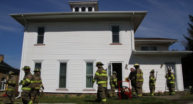 Firefighters Save Livonia Methodist Church House from Electrical Fire