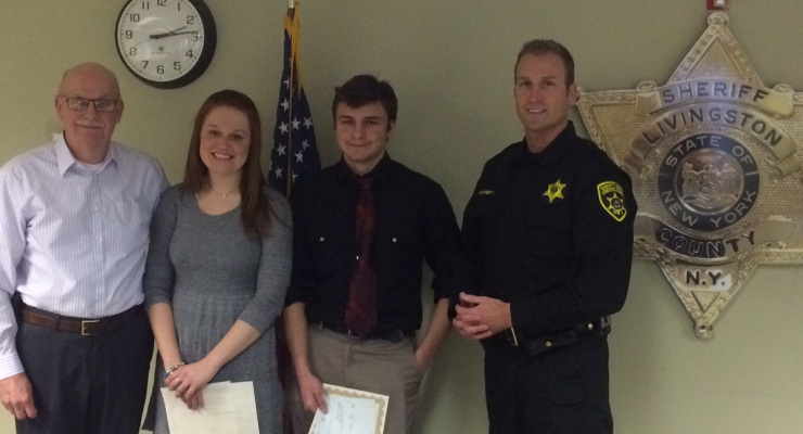 NYS Sheriff's Association Awards $250 to Three Exceptional GCC Students