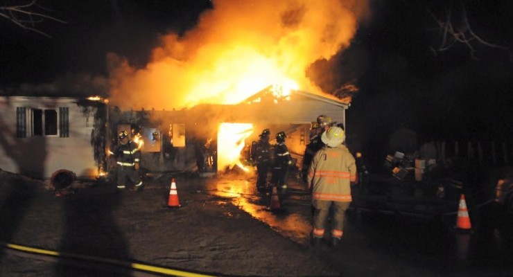 Lima Garage Fire Injures Firefighter