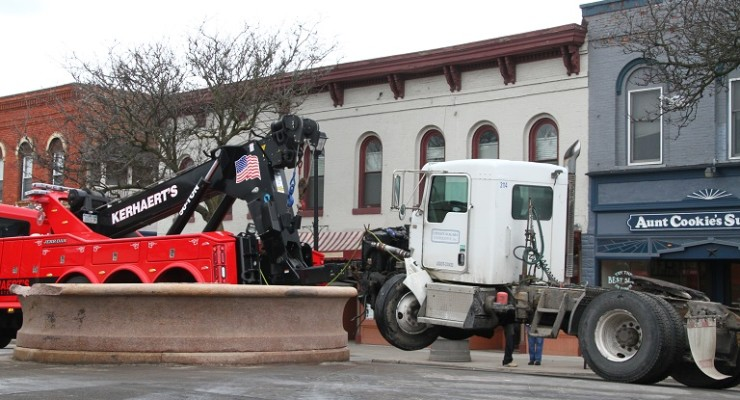 Milk Truck Tips Geneseo's 'Emmeline' on Daily Route to School