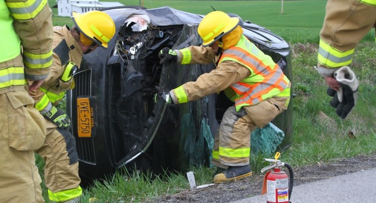 Rollover Injures Woman in Mount Morris