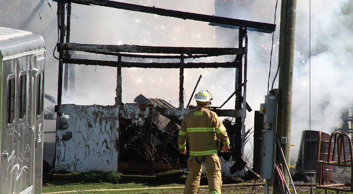 Fire Consumes Piffard Barn