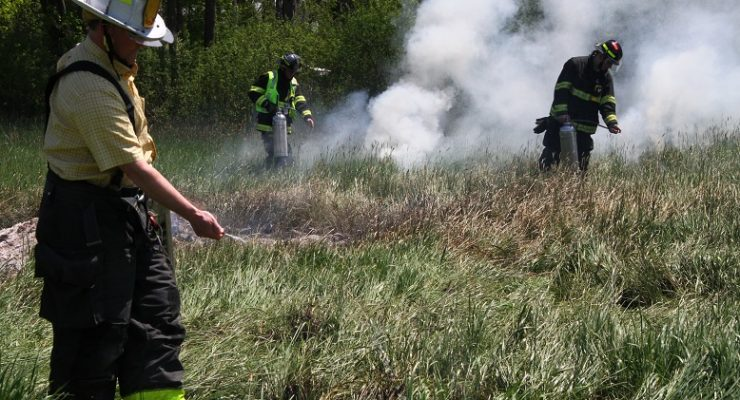Geneseo Grass Fire a Reminder of Tinder Dryness Under New Growth