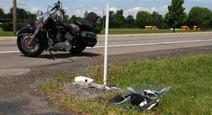 Motorcycle Rear Ends Car on Lakeville Road, Avon
