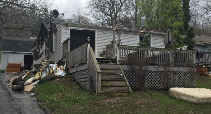 Early Morning Fire Damages Home on East Lake Road