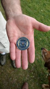 The commemorative coin. (Photo/Conrad Baker)