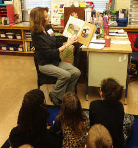 Annie Chwiecko, Senator Gallivan's Community Representative, reads this year's Ag Literacy book to students