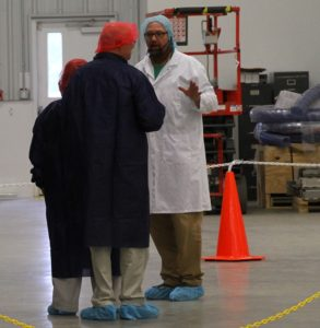 Visitors take a tour of the new facility. (Photo/Conrad Baker)