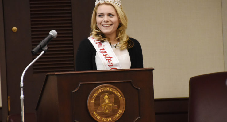 Livingston County Dairy Princess Addresses Board of Supervisors