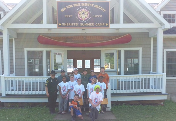 13 Local Happy Campers Play and Learn with Deputies at NYS Sheriff's Assn. Camp