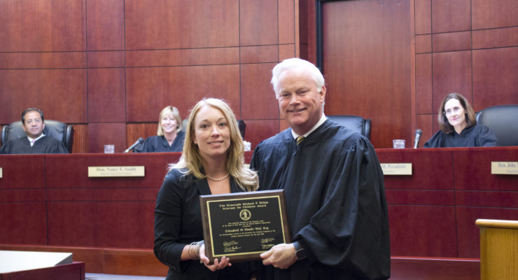 NYS Supreme Court Awards Geneseo's Elizabeth Vander Wal as Distinguished Attorney for Children