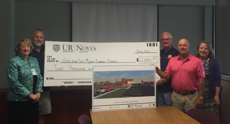 Dansville Lions Deliver $2K to Myers Cancer Center Construction