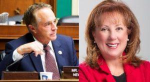 (L-R) Congressman Chris Collins and Congressional Candidate Diana Kastenbaum. (L photo/Chris Collins via Facebook) (R photo/Diana Kastenbaum via Facebook)