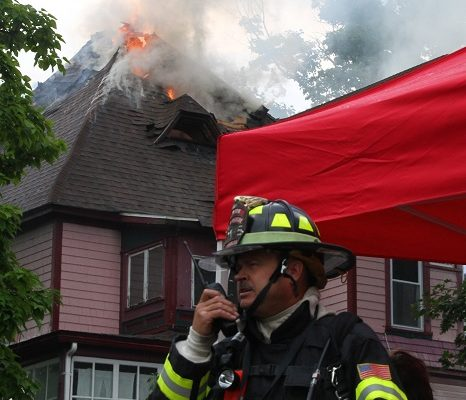 Fire Rips Through Heart of Perry House