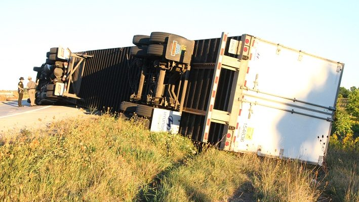 Sheriff's Commercial Vehicle Unit Tickets Truckers in 2 Crashes
