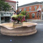 The fountain awaits repairs. (Photo/Conrad Baker)