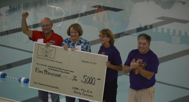 Duel in the Pool Makes a $5K Splash for Myers Cancer Center
