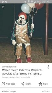 What is believed to be the original clown image which was photoshopped into Vitale Park. (Image/Lori Hoffere Pease)