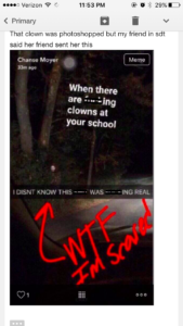 A screenshot of a snap sent to Chanse Moyer. (Photo provided)