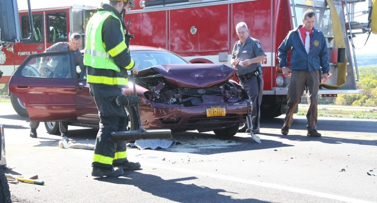 Car with Toddler Rear-Ends NYS Trooper on 63