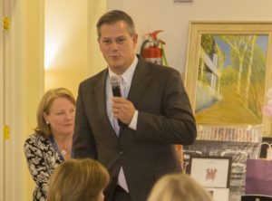 Gunlocke's Vice President, Tim Costello. (Photo courtesy of Noyes Health)