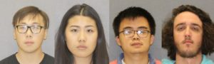 (L-R) Zhe Hoa Lin, Ada Song, Ryan Lim, and Tyler Van Dyke. (Photos/Livingston County Sheriff's Office)
