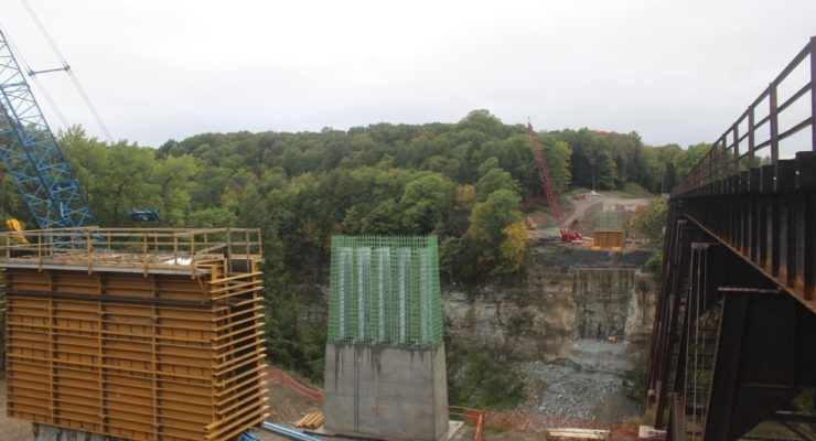 Watch Letchworth's New Bridge Complete 6 Months in Time Lapse
