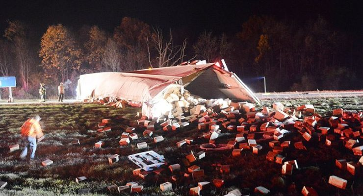 Firefighters and Hazmat Team Handle Fuel Spill on 390 Avon