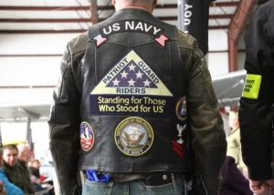 The Patriot Riders saw the recipients safely to and from the ceremony. (Photo/Conrad Baker)