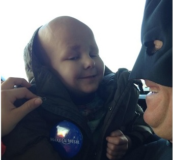 Batman Joins Dansville Heroes to Escort 4-Year-Old for 'Make-A-Wish' Disney Trip