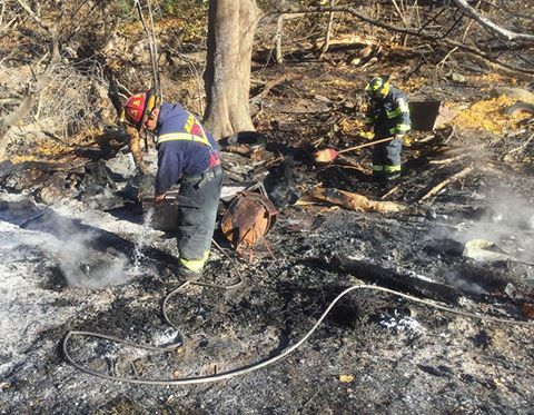 East Avon Firefighters Wipe Out Brush Fire