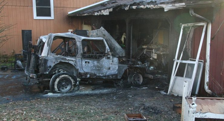 York Garage Burns after Jeep Trouble