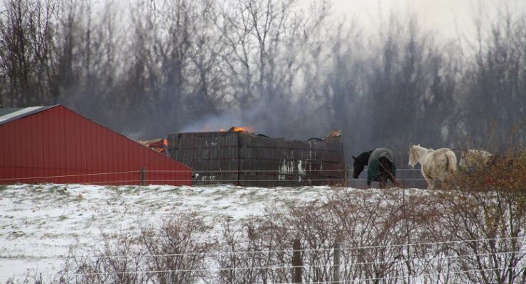 Geneseo Barn Destroyed in Fire
