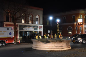 What is left of the bear fountain. (Photo/Josh Williams)