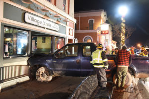 The truck into the front of 70 Main Street. (Photo/Josh Williams)